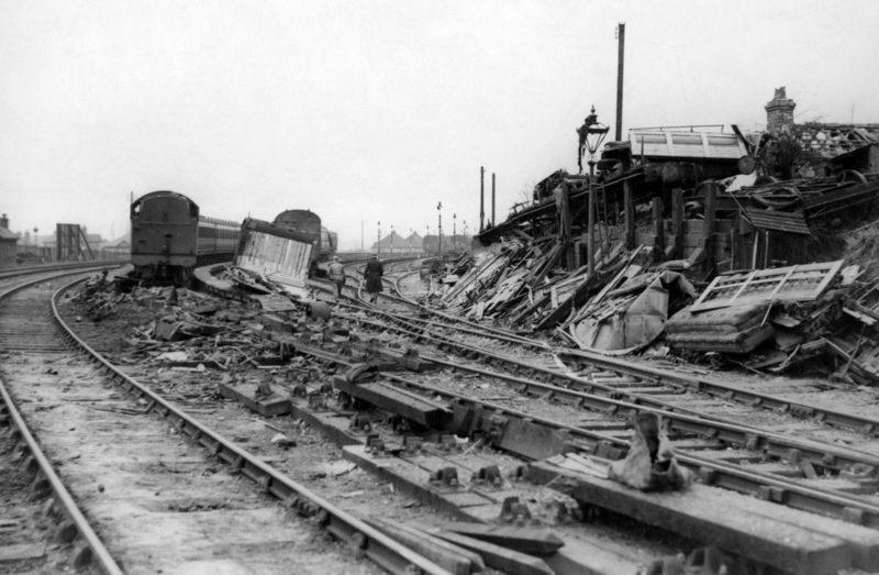Железнодорожная станция Ковентри. Ноябрь 1940 г.