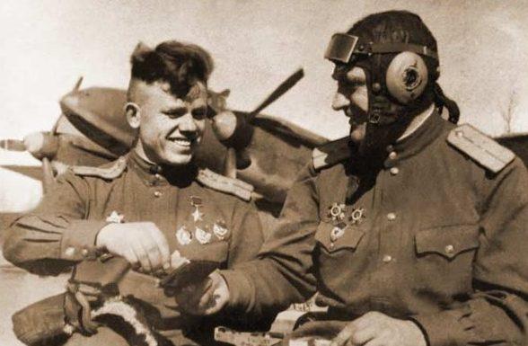 Герой Советского Союза капитан Плотников. 1944 г.
