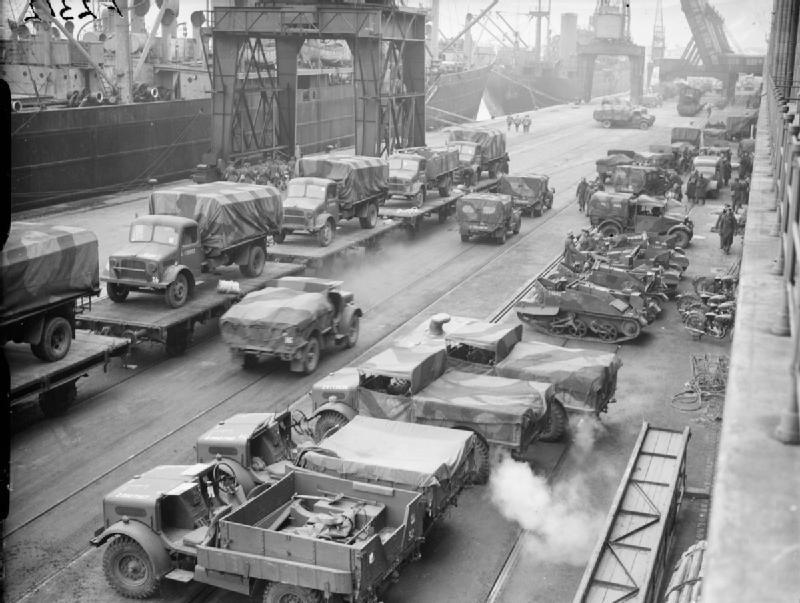 Британская военная техника во французском порту. 28 января 1940 г.