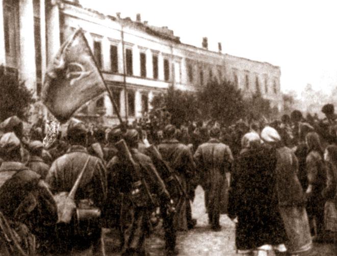 Полтавчане встречают освободителей. Сентябрь 1943 г.