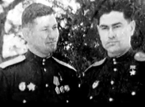 Летчики Числов и Маресьев. 1943 г.