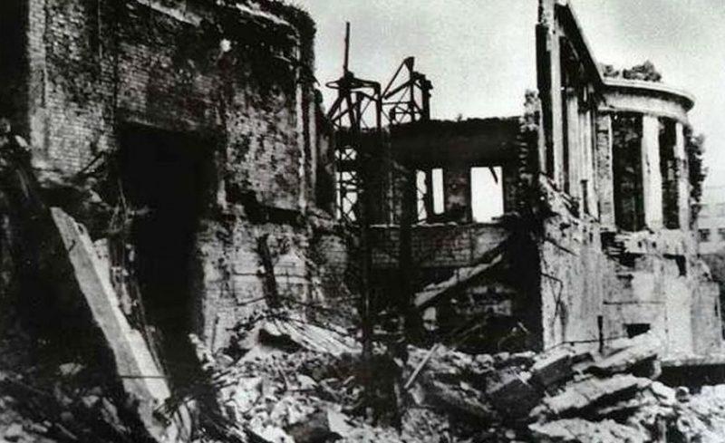 Разрушения в городе. Май 1945 г.