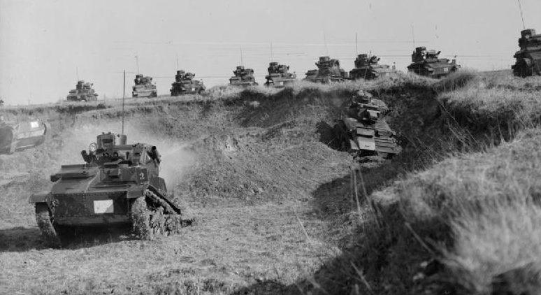 Легкие танки Mk-VI на учениях в Баккуа. 12 марта 1940 г.