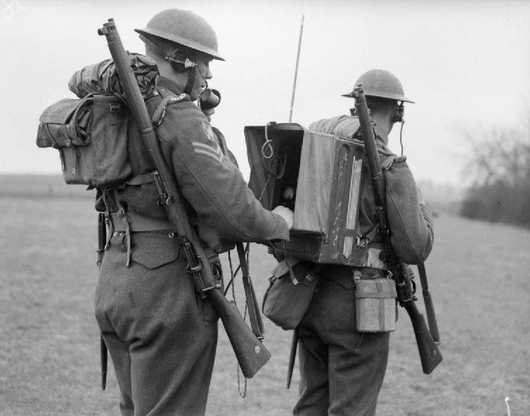 Пехотная радиостанция №18 на полевых учениях 1-й дивизии в Бургелле. 12 марта 1940 г.