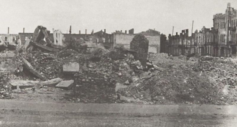 Руины города. 1944г.