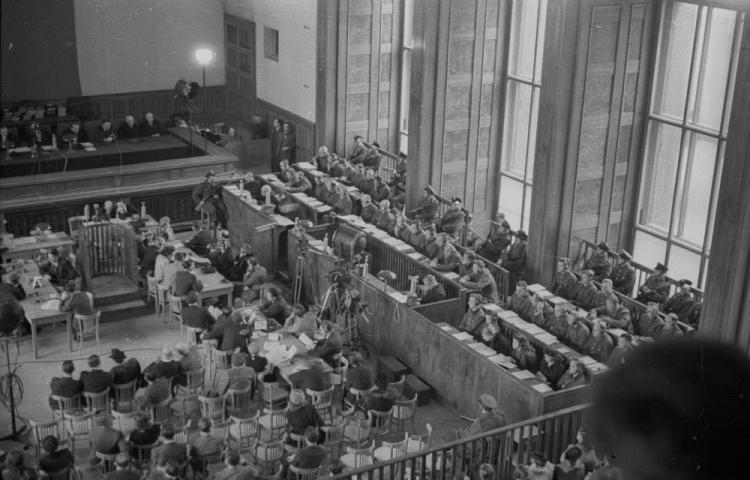 Заседание Верховного национального трибунала по делу преступлений в Освенциме. 1946-1947 г.