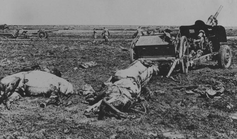 Поле боя под Керчью. Июнь 1942 г.