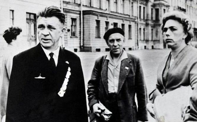 Маринеско с женой. 1963 г.