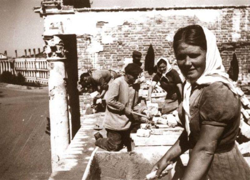 Восстановление города. 1945 г.