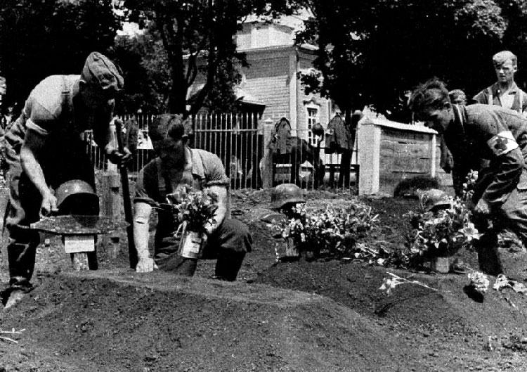 Немецкое кладбище в Феодосии. 1942 г.