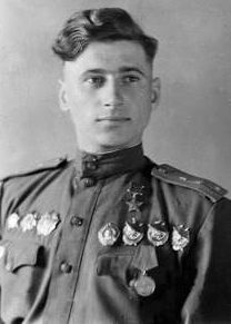 Герой Советского Союза Прохоров. 1944 г.