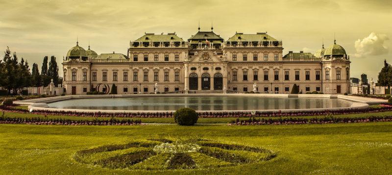 Дворец Бельведер в Вене.