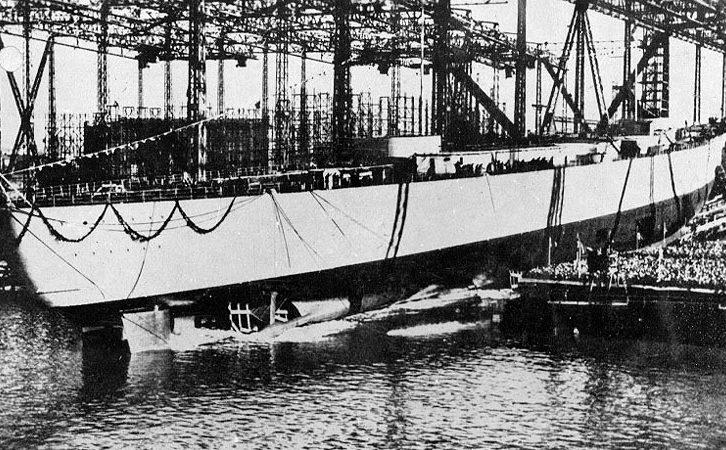 Спуск на воду линкора «Бисмарк».