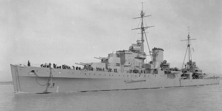 Легкий британский крейсер «Orion».