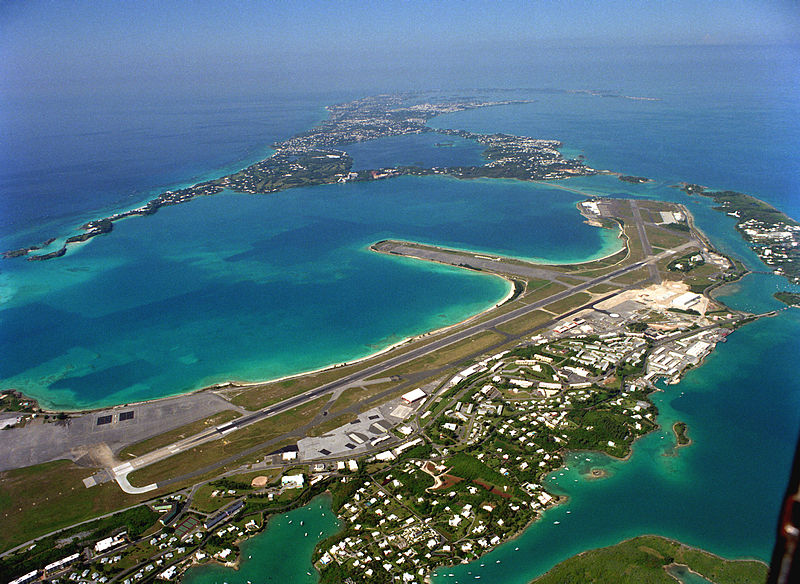 Авиабаза «Киндли на Бермудах, перешедшая к американцам.
