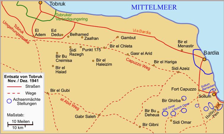 Карта-схема боевых действий.