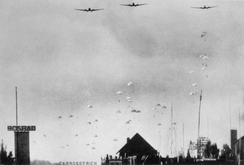 Немецкий десант в Голландии.