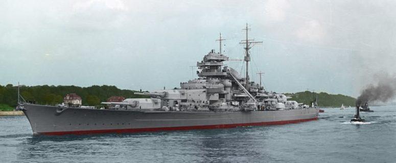 «Бисмарк» в 1940 году.
