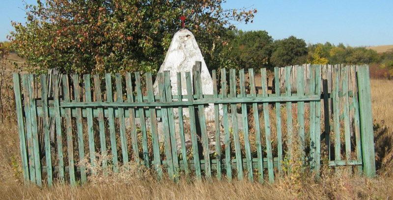 х. Два дерева Алексеевского р-на. Могила летчика Шварца, погибшего в годы войны.