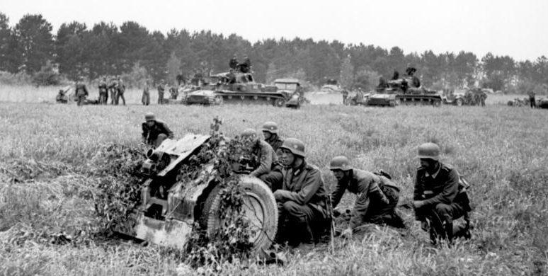 Немецкое наступление в Франции.