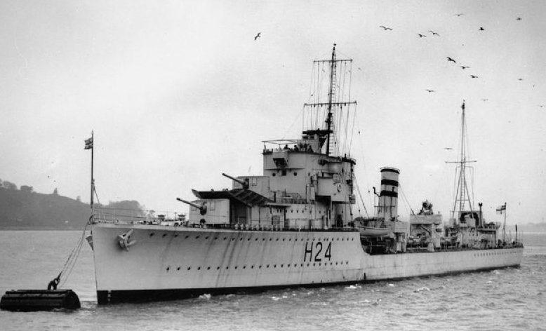 Британский эсминец «Хейсти».