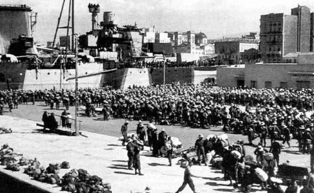 Эвакуация британских войск.