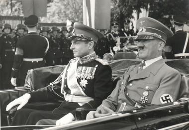 Регент Королевства Югославия Павел Карагеоргиевич и Адольф Гитлер в Берхтесгадене. 5 марта 1941 г.