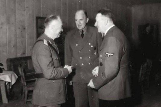 Последняя встреча маршала Иона Антонеску и Адольфа Гитлера. Ставка «Волчье Логово». 5 августа 1944 г.