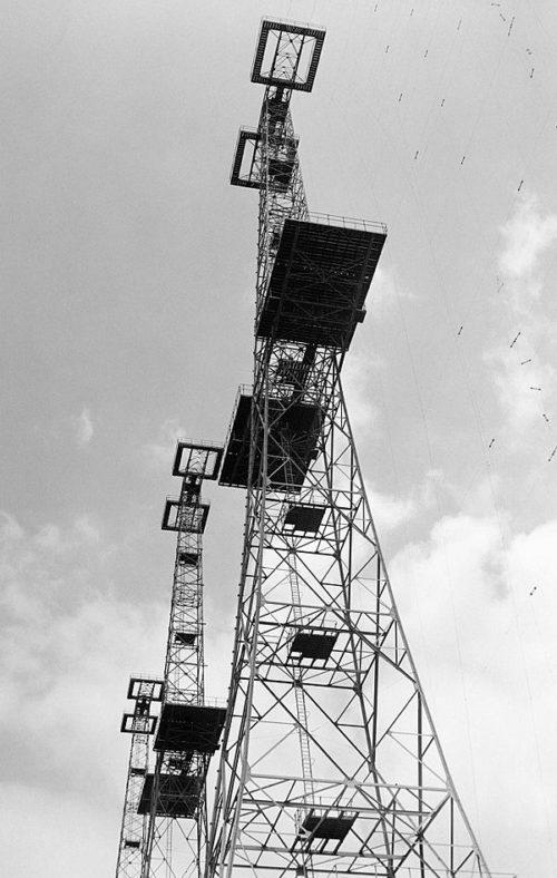 Башня-передатчик РЛС на восточном побережье. 1940 г.