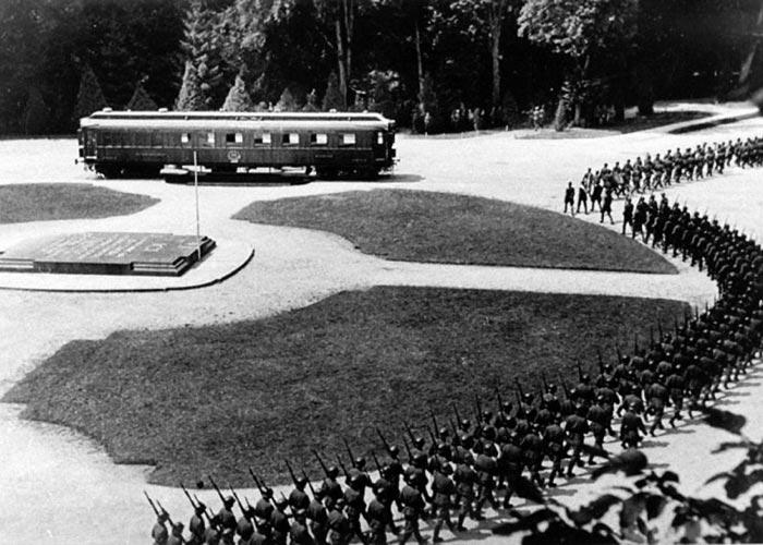 Площадь в Компьенском лесу, где был установлен «вагон Фоша».