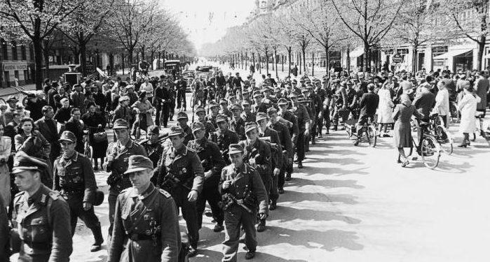 Немецкие войска в Дании. 9 апреля 1940 г.