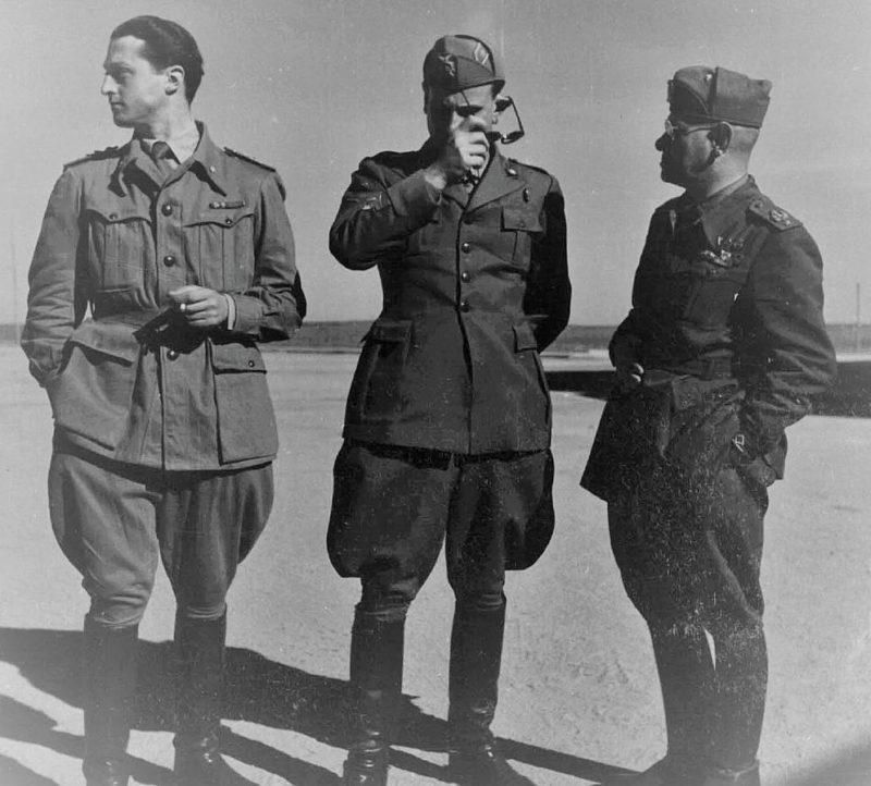 Итальянские генералы Этторе Бальдассарре, Микеланджело Никколини и Джакомо Ломбарди.