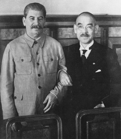 Мацуока и Сталин. 12 апреля 1941 г.