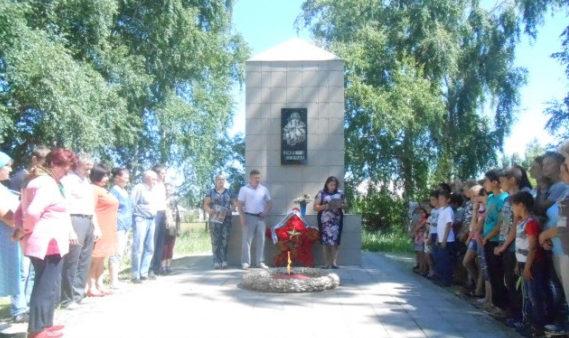 х. Дьяконовский-1 Урюпинского р-на. Обелиск воинам землякам, погибшим в годы войны.