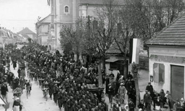 Венгерские войска в Югославии.