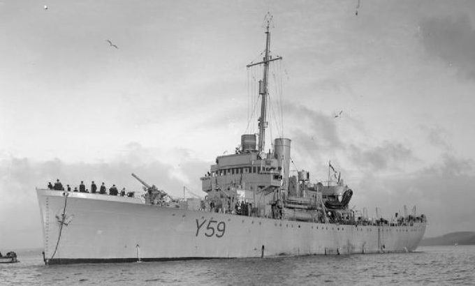 Один из 10 переданных дополнительно шлюпов класса «Бэнфф» - «HMS Fishguard».