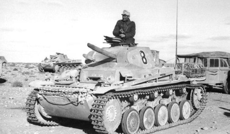 Немецкие танки в Северной Африке.