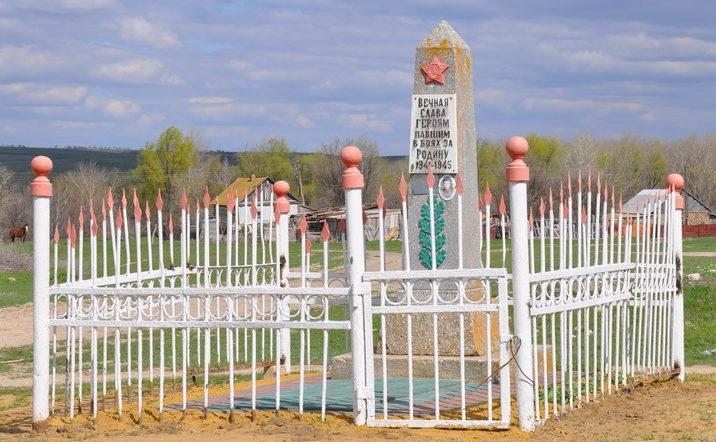 х. Большенабатовский Калачевского р-на. Братская могила советских воинов, погибших в годы войны.