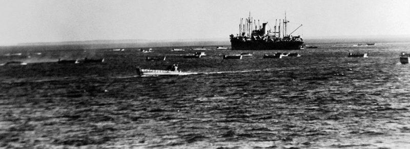 Высадка десанта Союзников в Марокко.