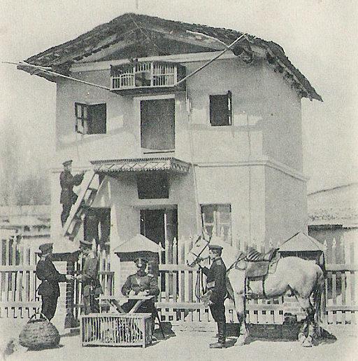 Военно-голубиная станция российской армии в Туркестане. 1905 г.