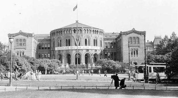Занятый немцами парламент Норвегии.