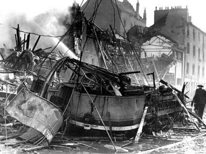 Разрушения на улице Нельсона в Глазго.