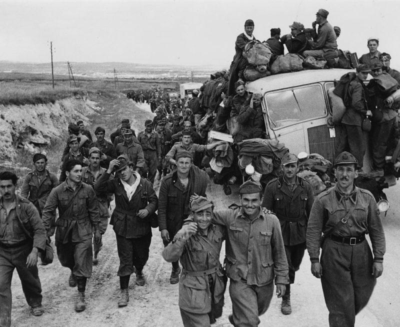 Итальянские военнопленные.
