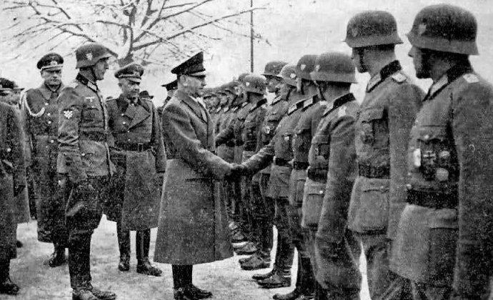 Анте Павелич с бойцами 369-го полка (Хорватский легион).