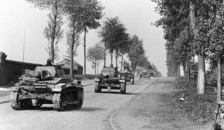 Немецкие войска в Бельгии.