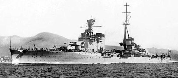 Итальянский тяжелый крейсер «Больцано».