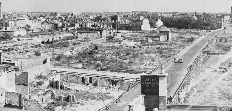 Разрушения в Портсмуте.