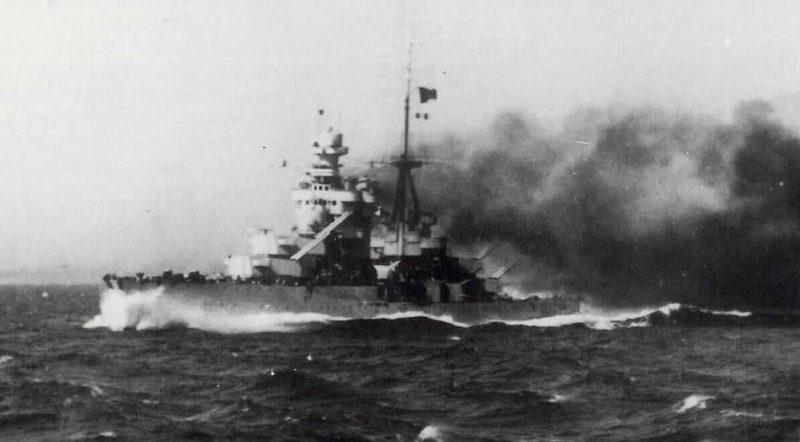 Пожар на крейсере «Зара».