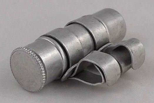 Американская ножная капсула для голубограммы. Размер - 10x29 мм, вес – 1,7 г.