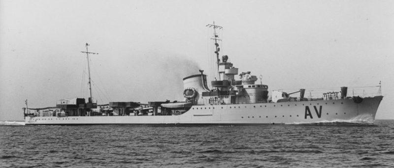 Итальянский эсминец «Ориани». 1940 г.